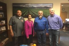From left, Jerry Flores of EB Resources, Assemblywoman Ana Caballero (D-Salinas), Eddie Medrano of Aera Energy, and Ron Anderson of Berry Petroleum.