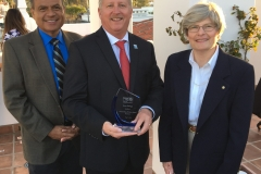 Aera Energy was named the 2018 Most Outstanding Business at the 95th Annual Awards Celebration of the United Way of Santa Barbara County during a ceremony at the The Hotel Californian. From left is United Way CEO Steve Ortiz, Aerass  awards