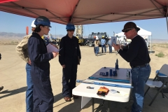 Colorado School of Mines students learn about fishing tools from a representative of the R&O Fishing Tools during a visit to the Belridge Producing Complex on May 15, 2018.