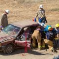 Aera employees practice emergency response in a drill at the San Ardo oil field last year.