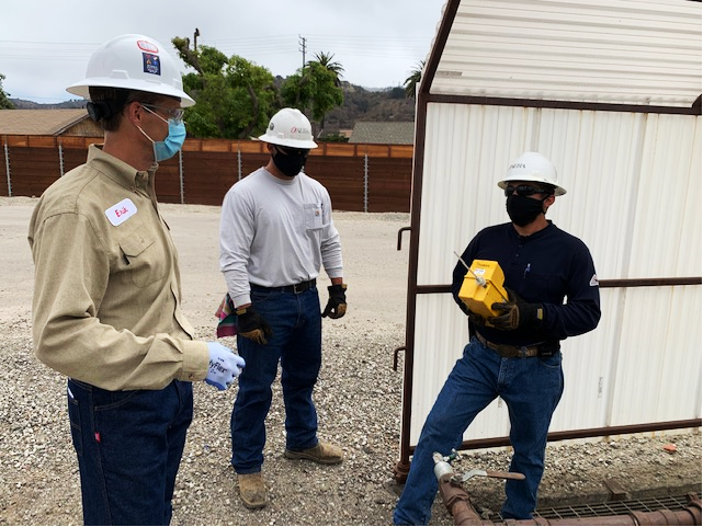 Since he joined Aera in July, Bartsch (left) has focused on learning and listening, as here during a visit to Aera's Ventura operation.