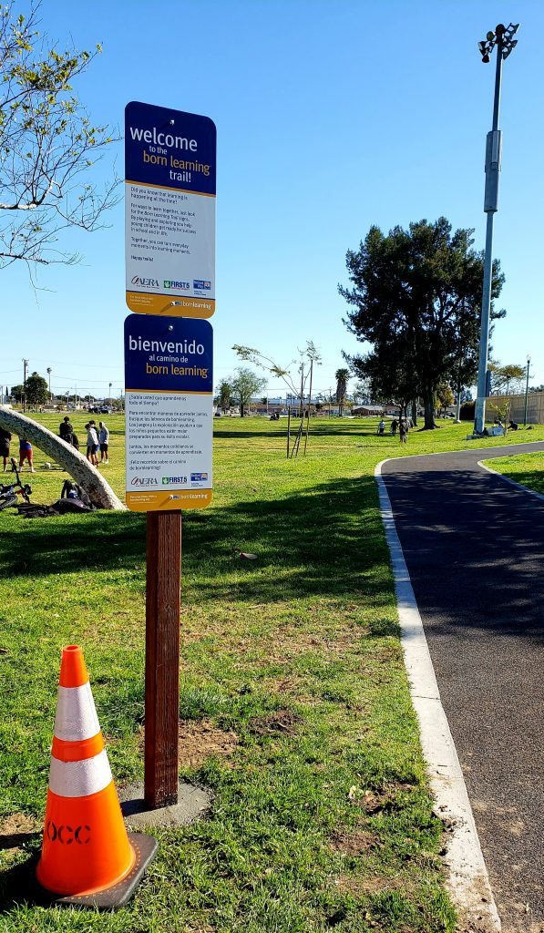 Oxnard families have a new Born Learning Trail to enjoy at Del Sol Park. The trail was made possible by a donation made in 2020 from Aera Energy.
