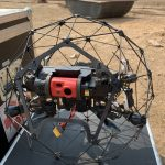 This drone is being prepared to conduct an inspection inside a generator.