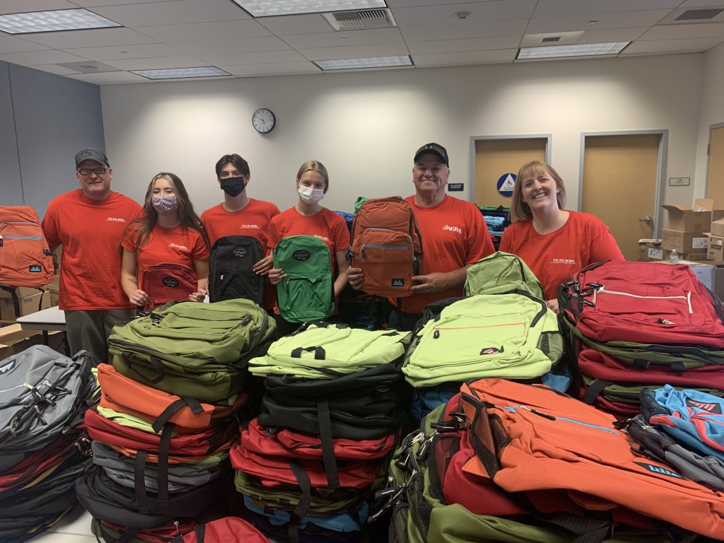 Aera-Ventura employees helped put together backpacks with school supplies as part of the United Way of Ventura County's Stuff the Bus campaign